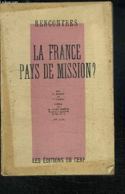 La France, Pays de Mission ? Rencontres