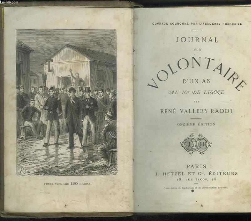 Journal d'un Volontaire d'un an, au 10e de Ligne.
