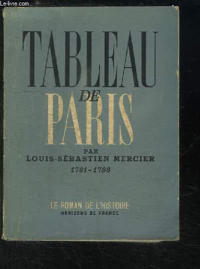 Tableau de Paris. 1781 - 1788