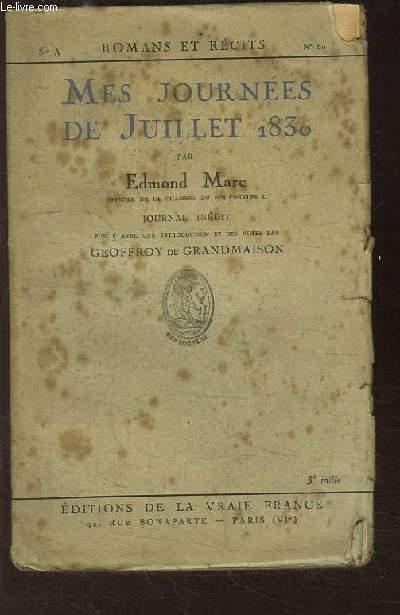 Mes Journées de Juillet 1830.