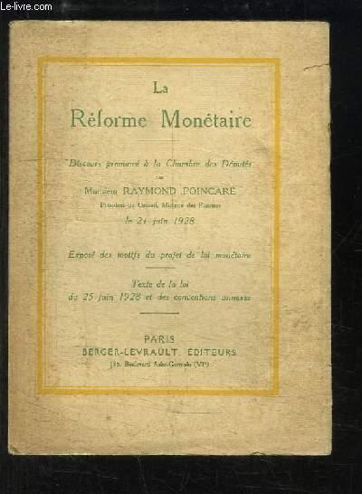 La Réforme Militaire. Discours prononcé à la Chambre des Députés, le 21 juin 1928