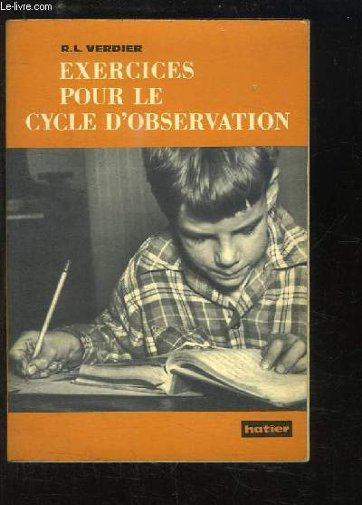 Exercices pour le cycle d'observation.