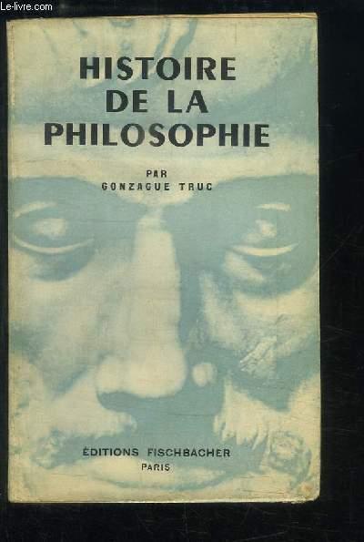 Histoire de la Philosophie.