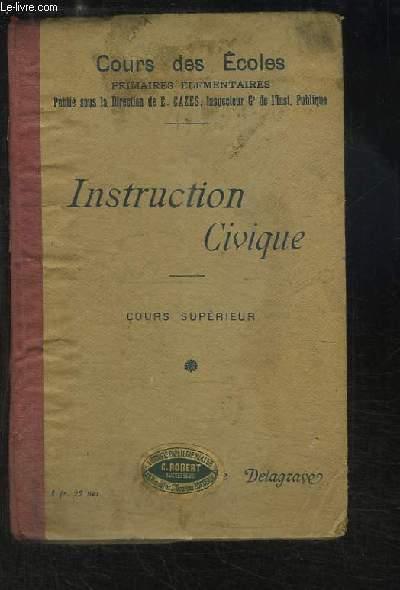 Instruction Civique. Cours supérieur.