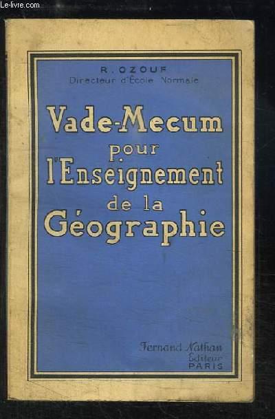 Vade-Mecum pour l'Enseignement de la Géographie