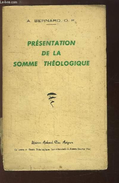 Présentation de la Somme Théologique.