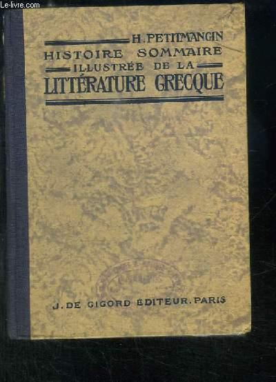 Histoire sommaire illustrée de la Littérature Grecque.