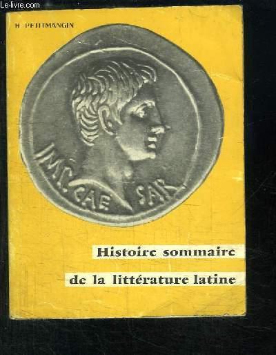 Histoire sommaire de la Littérature Latine.