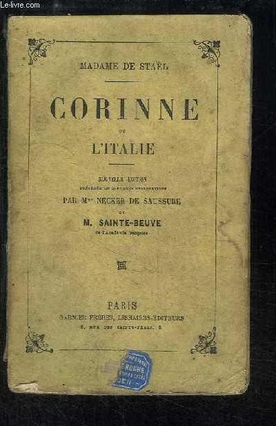 Corinne ou l'Italie.