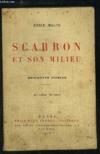 Scarron et son milieu.