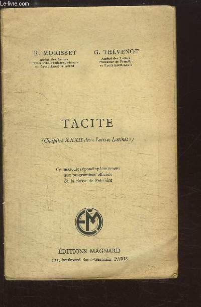 Tacite (Chapitre XXXII des