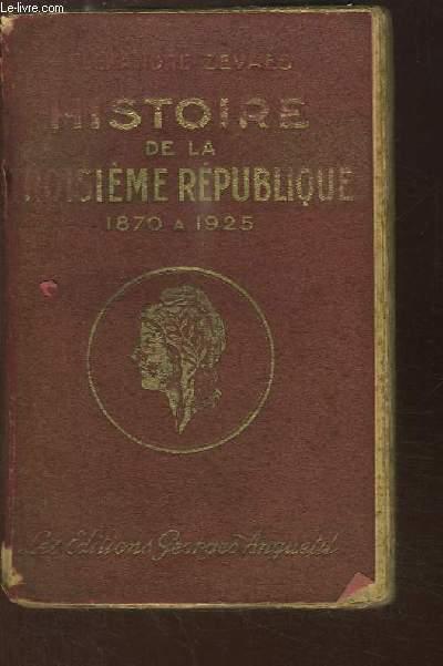 Histoire de la Troisième République (1870 - 1926)