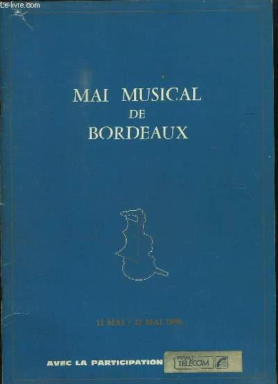 Mai Musical de Bordeaux. 11 mai / 21 mai 1990