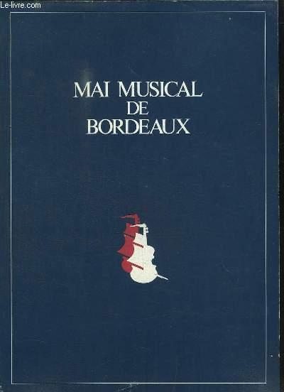 Mai Musical de Bordeaux. 25 Mai - 12 juin 1977