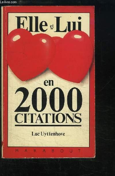 Elle et Lui en 2000 citations.