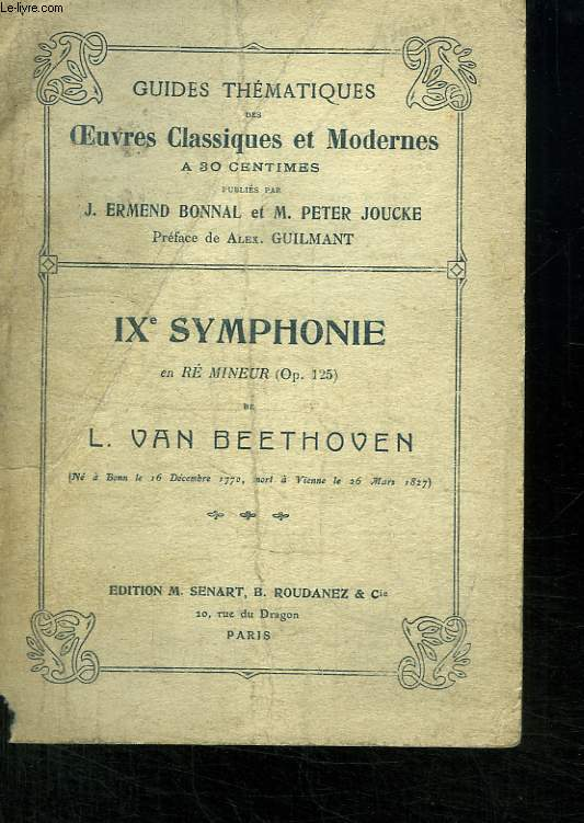 IXe Symphonie en Ré Mineur (Op. 125)