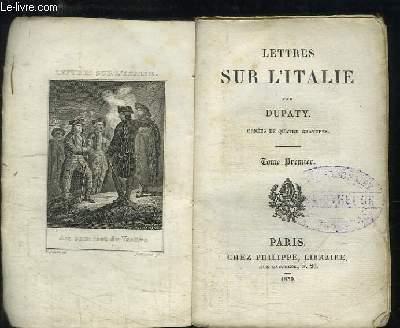 Lettres sur l'Italie. TOME 1er