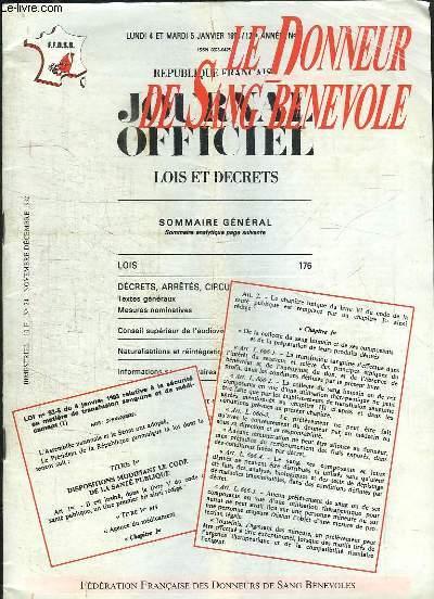 Le Donneur de Sang Bénévole, n°24 : 1993, une année d'espoir ? - La France Transfusionnelle ...