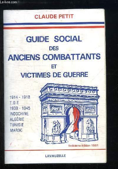 Guide Social des Anciens Combattants et Victime de Guerre.