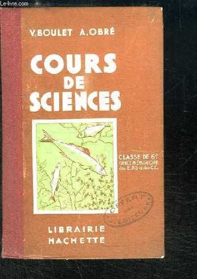 Cours de Sciences. Classe de 6ème.