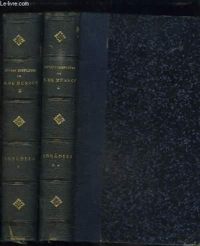 Oeuvres complètes d'Alfred de Musset. Comédies, EN 2 TOMES