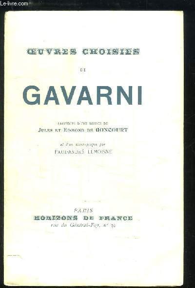 Oeuvres Choisies de Gavarni.