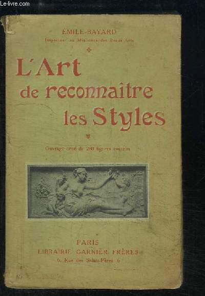 L'Art de reconnaitre les Styles.