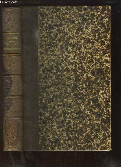 Oeuvres dramatiques de Schiller. Traduction de M. de BARANTE