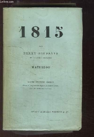 1815. Waterloo