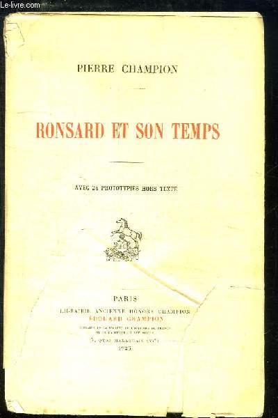 Ronsard et son Temps.