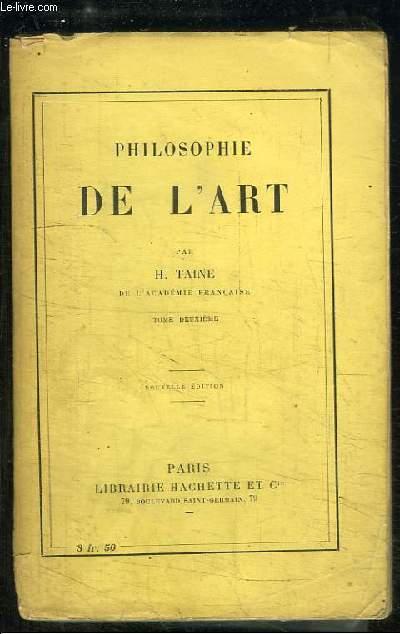 Philosophie de l'Art. TOME 2ème