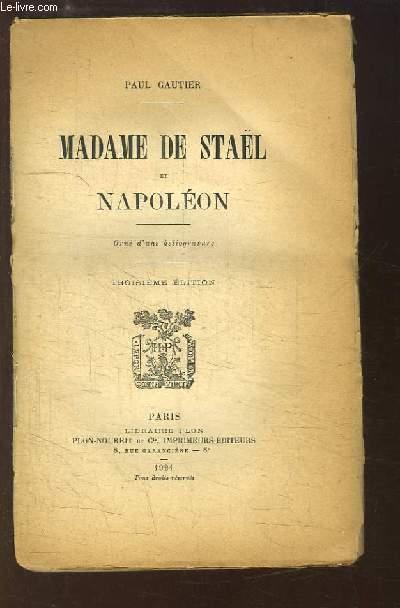 Madame de Staël et Napoléon.