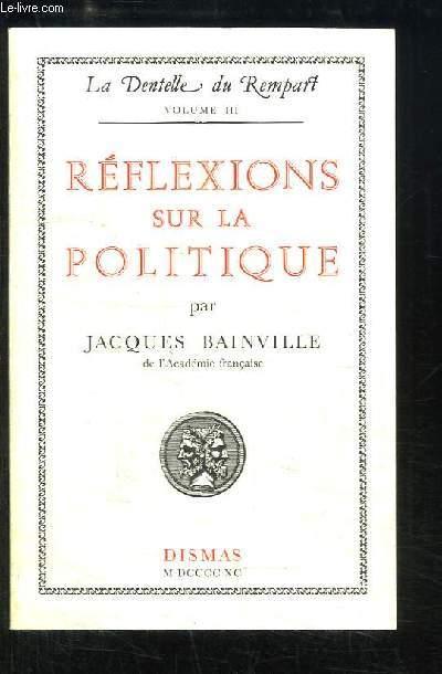 Réflexions sur la Politique.