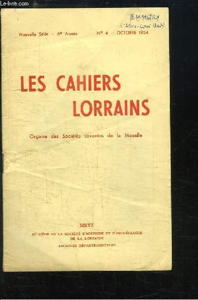 Les Cahiers Lorrains, N°4 - 6e année : Jean-Claude Emmery, Comte de Grosyeult, Pair de France.