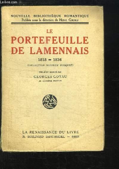 Le Portefeuille de Lamennais, 1818 - 1836 (Collection Maurice Bucquet)