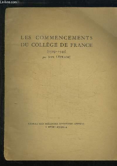 Les commencements du Collège de France (1529 - 1544)
