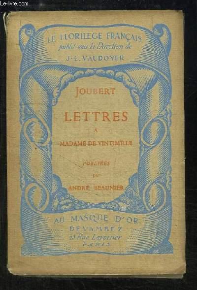 Lettres à Madame de Vintimille.