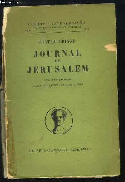 Journal de Jérusalem