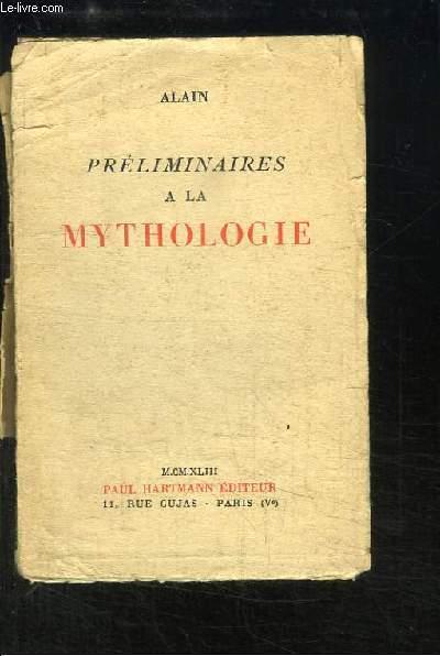 Préliminaires à la Mythologie