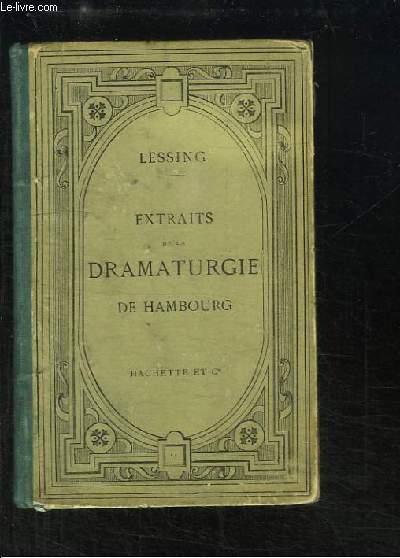Extraits de la Dramaturgie de Hambourg.