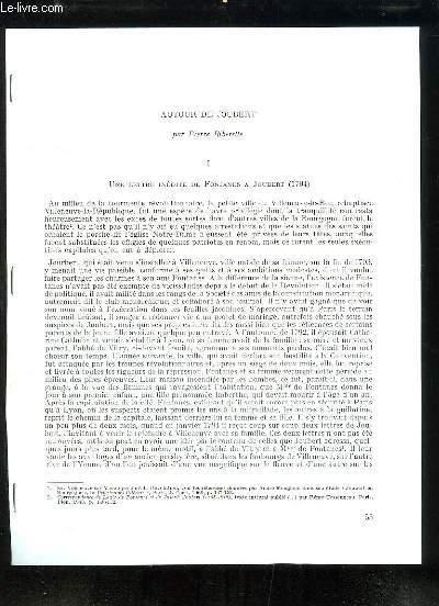 Autour de Joubert - Tirage-à-part du Bulletin de la Société de Chateaubriand