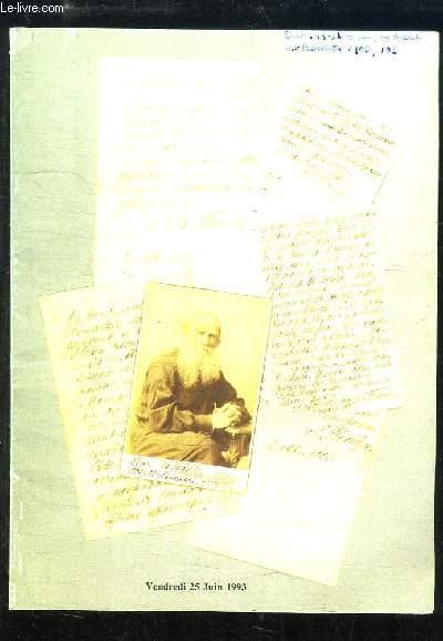 Catalogue de la Vente aux Enchères du 25 juin 1993 à Drouot-Richelieu