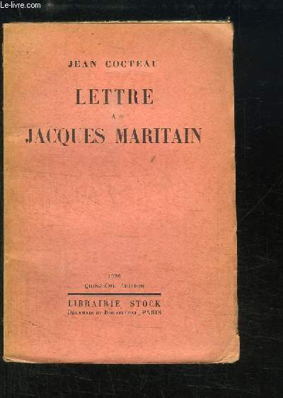 Lettre à Jacques Maritain.