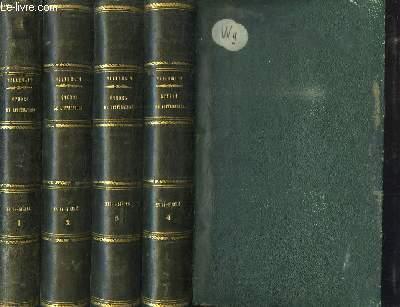Cours de Littérature Française. Tableau de la Littérature au XVIIIe siècle. EN 4 TOMES.