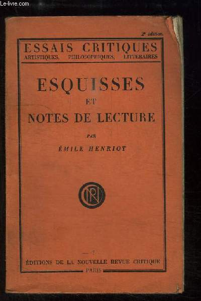 Esquisses et Notes de Lecture.