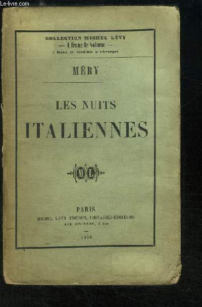 Les Nuits Italiennes. Contes Nocturnes.