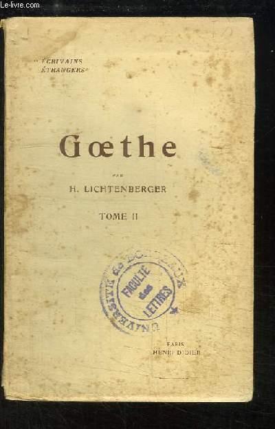 Goethe, TOME 2 : Histoire - Métaphysique et Religion