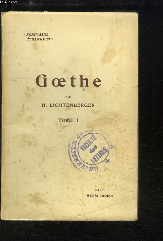 Goethe, TOME 1