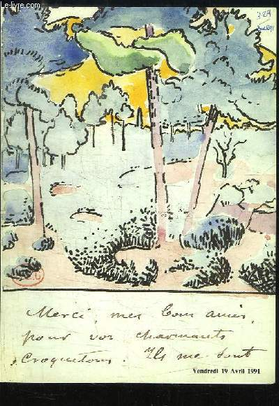 Catalogue de la Vente aux Enchères Publiques du 19 avril 1991, au Drouot-Richelieu