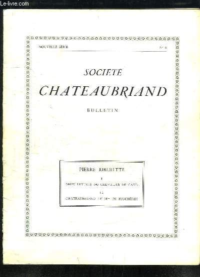 Deux Lettres du Chevalier de Caud - Chateaubriand et Mme de Feuchères.Tirage-à-part du Bulletin de la Société de Chateaubriand, n°6 de la Nouvelle série.